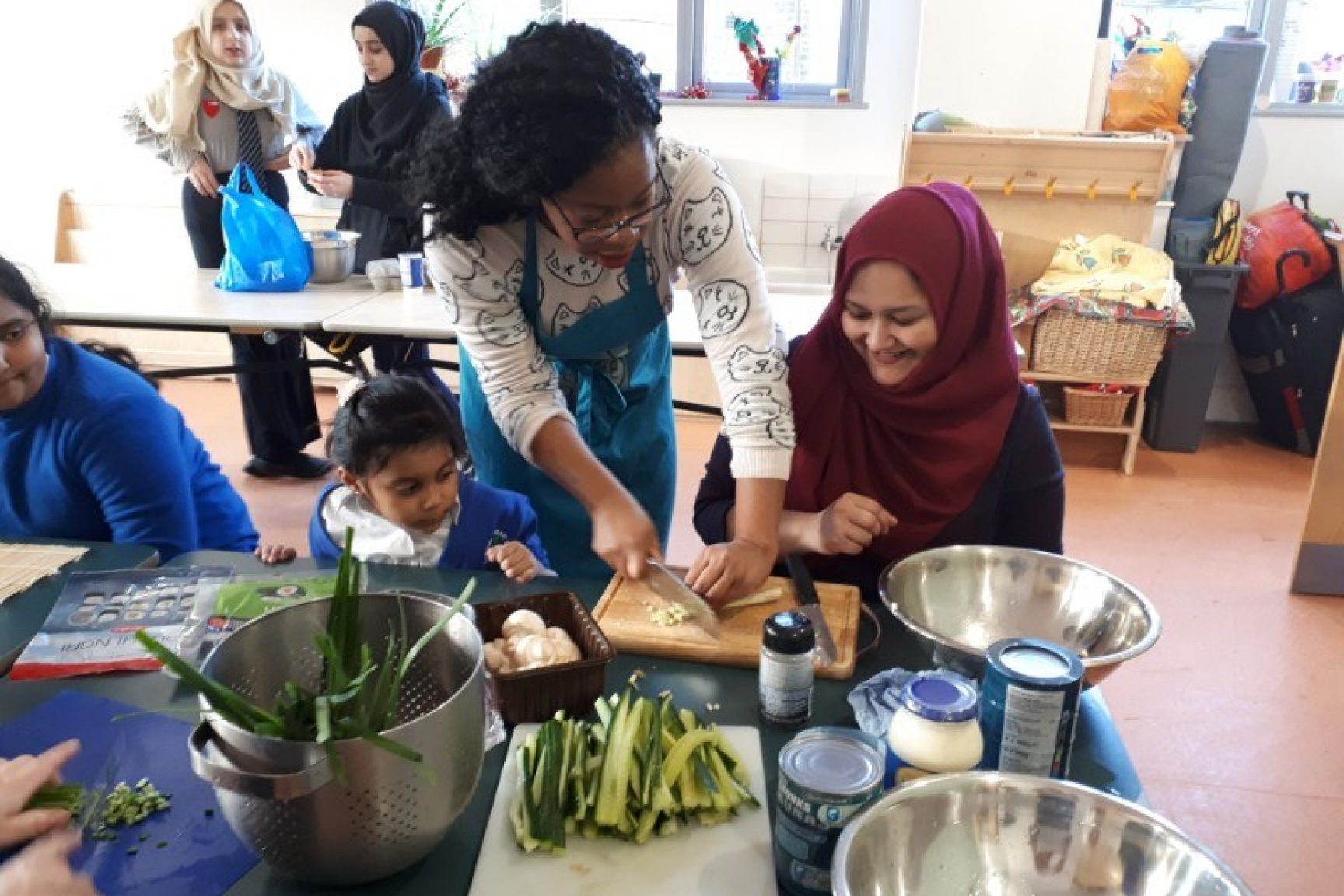Learning how to prepare food in a diverse educational environment