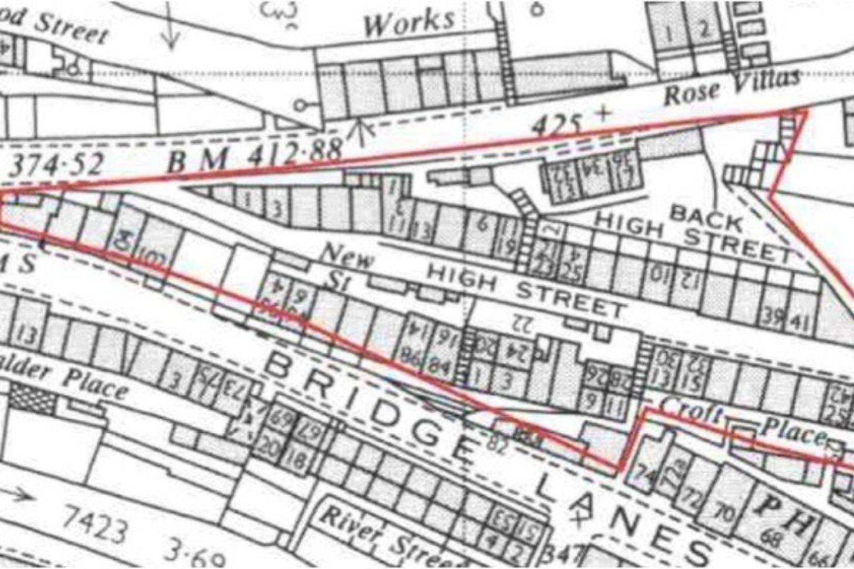 This is a Map of the Hebden Bridge area to be used for neighborhood planning or housing