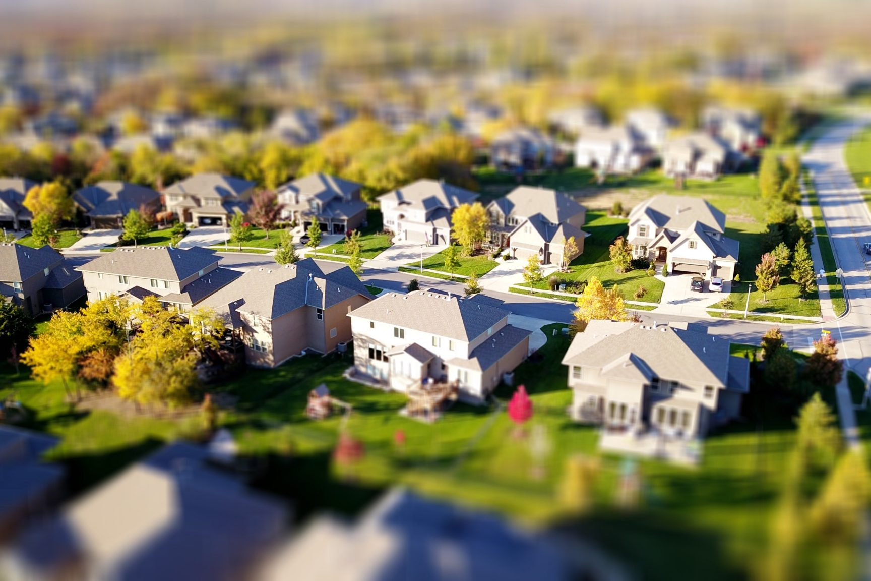 Model of a village or town. Visual representation of a neighborhood plan.