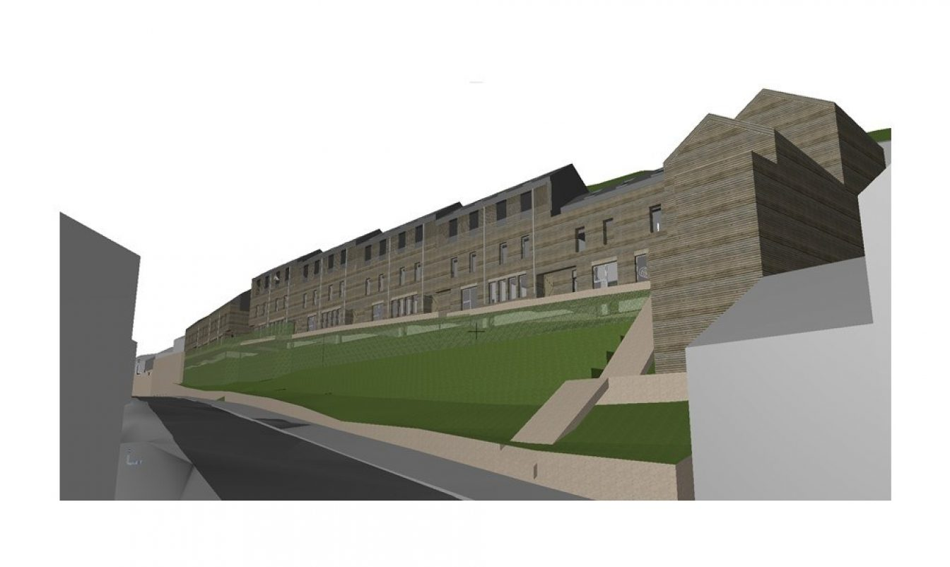 Contemporary terrace housing or property design that could be used for community led housing