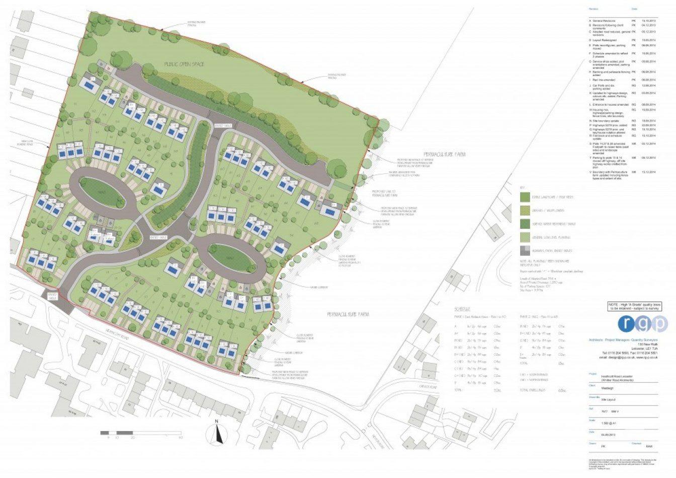 Site Layout of Saffron Lane